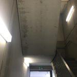 Bij te werken afgestreken zijdes prefab betontrap