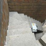 Rénovation escalier en béton coulé sur place