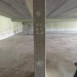 Bij te werken stortzijde betonstructuur - esthetische betonherstelling