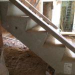 Bij te werken zichtzijde betontrap