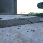 Bij te werken bordes prefab betontrap - esthetische betonherstelling