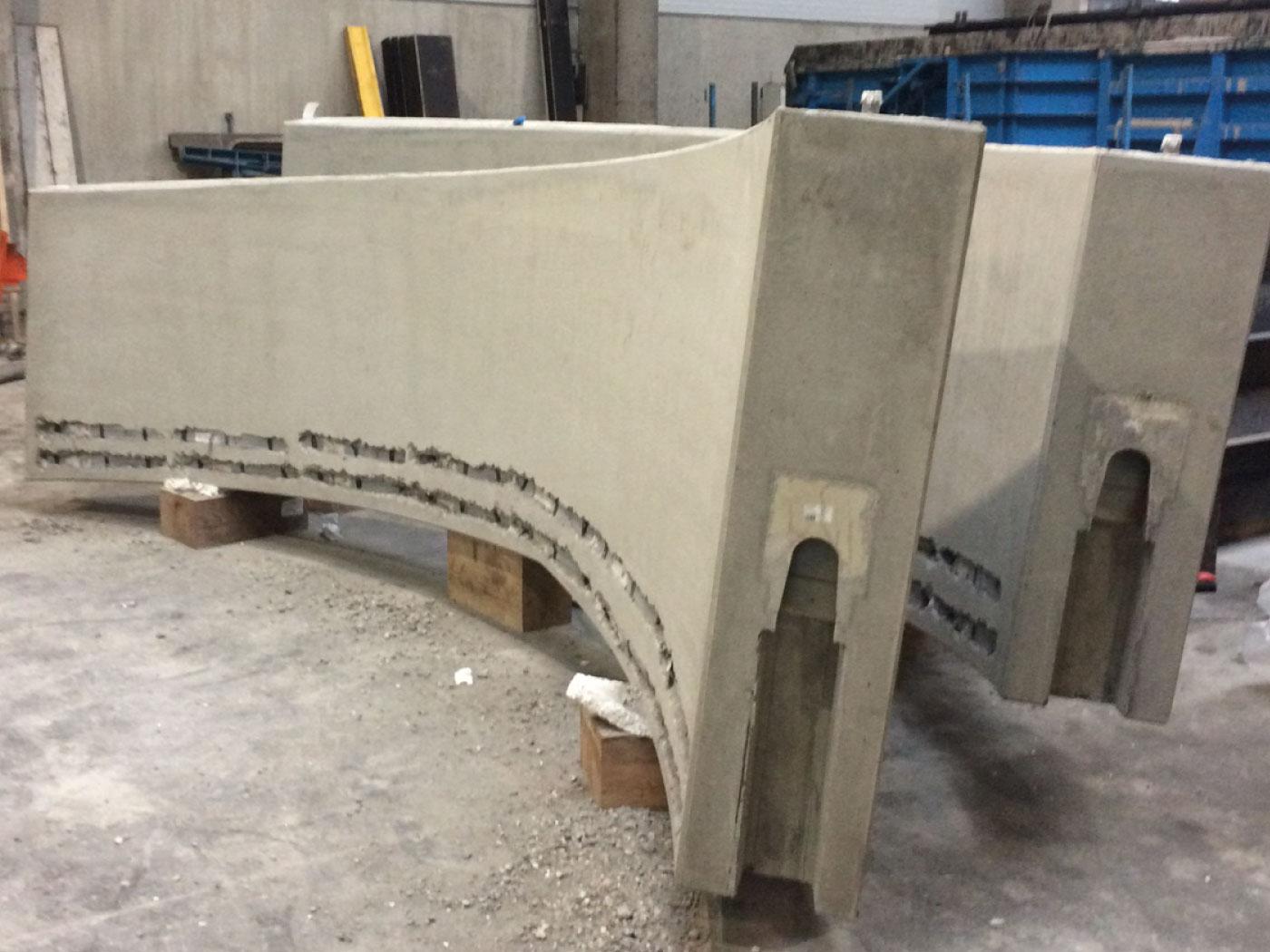 Bij te werken helicoïdalen - esthetische betonherstelling