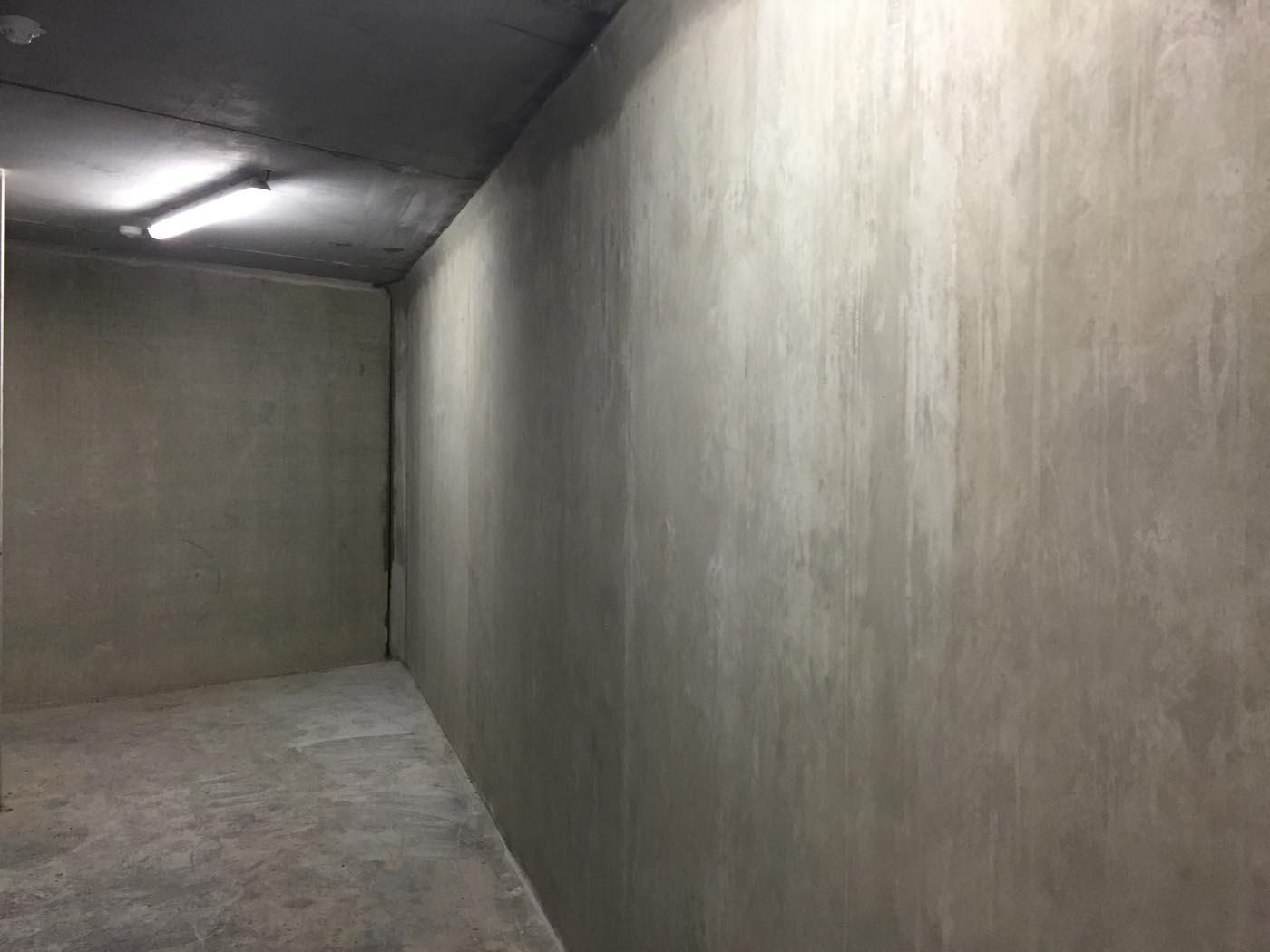 Cimentation d'un mur en béton: phase 2