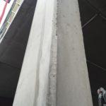 Bij te werken betonstructuur (vellingskanten)