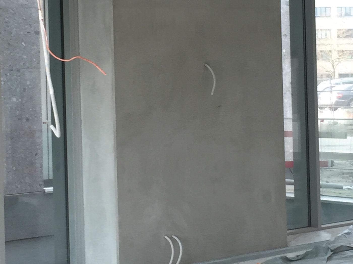 Bij te werken betonstructuur - betonherstellingen - zichtbeton