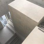 In eerste fase bijgewerkte centrale koker - esthetische betonherstelling